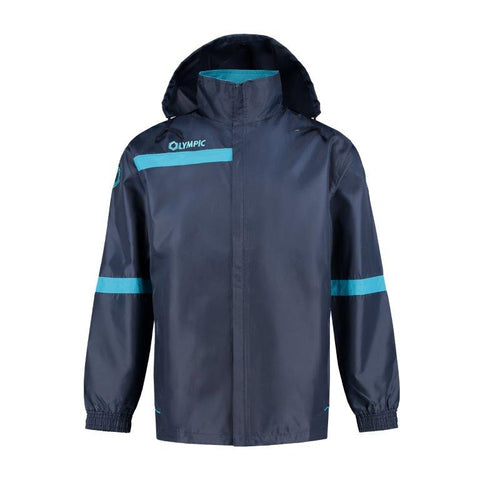 Olympic rainjacket top 2.0 navy/petrol