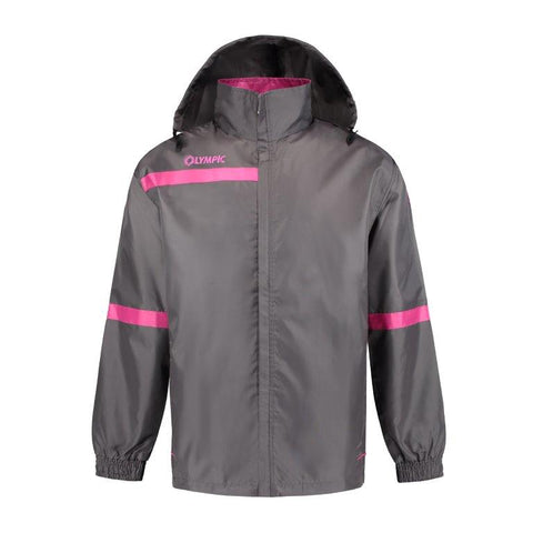 Olympic rainjacket top 2.0 grijs/fuchsia