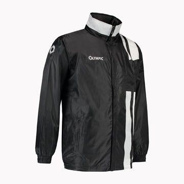 Olympic rainjacket Calcio zwart/wit