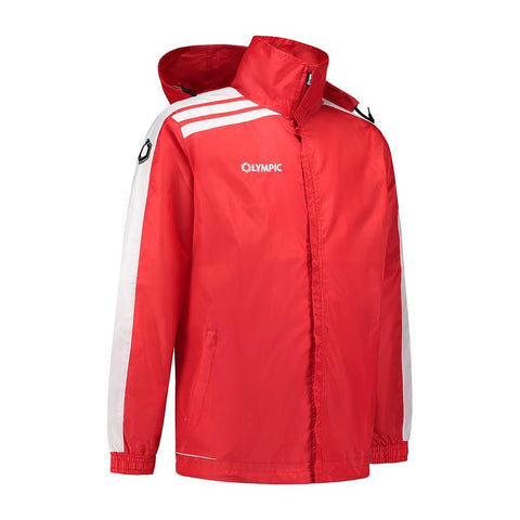 Olympic rainjacket Roma rood/wit