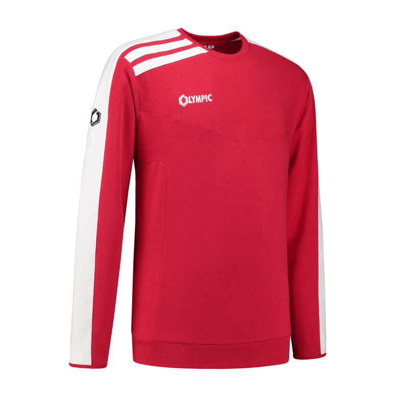 Olympic Roma sweater rood-wit (116-3XL)