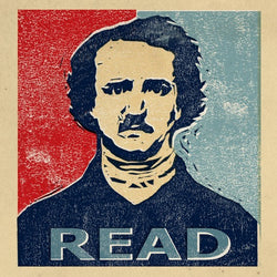 Edgar Allan Poe Print: READ (limited edition)