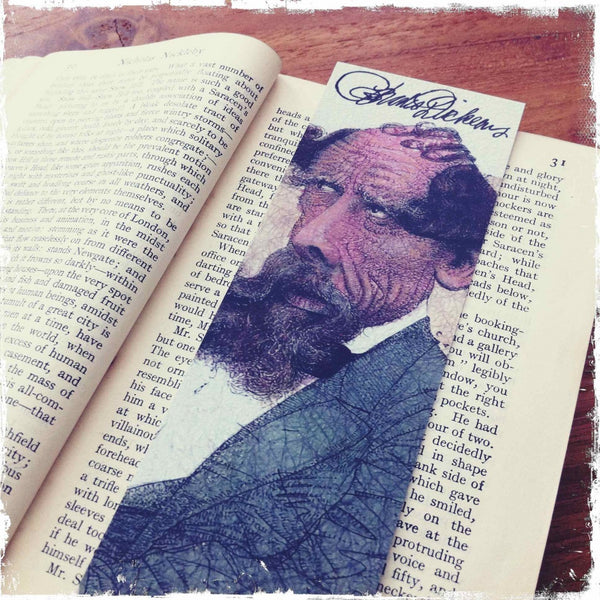 Charles Dickens Caricature Bookmark