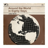 Around the World in Eighty Days - Classic Vintage Book Cover Print (Framed)