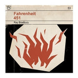 Fahrenheit 451 - Classic Vintage Book Cover Print (Framed)