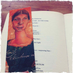 Emily Dickinson Caricature Bookmark