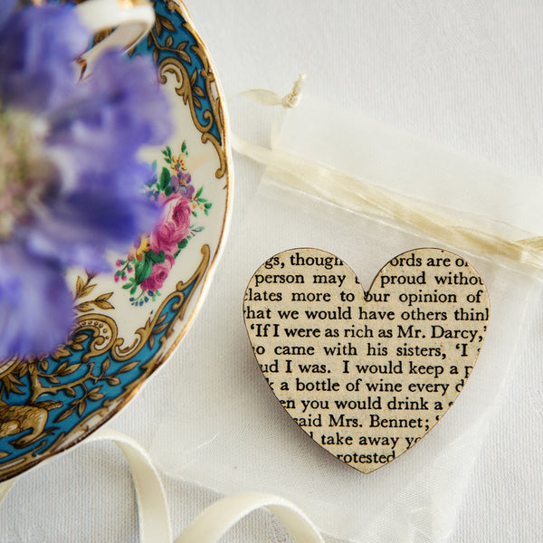 Pride and Prejudice Heart Brooch
