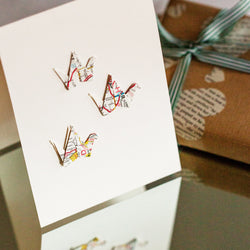 Paper Cranes Blank Card