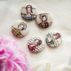 Pride and Prejudice Badge Set