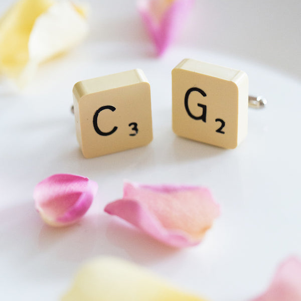 Personalised Vintage Letter Cufflinks