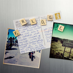 """FRIDGE"" Vintage Letter Magnets"