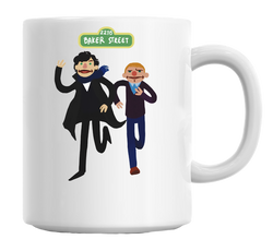 Puppety Sherlock And John Mug