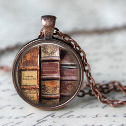 Edgar Allan Poe Book Necklace