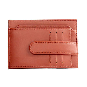 Multi-functional Men's Leather Card Holder