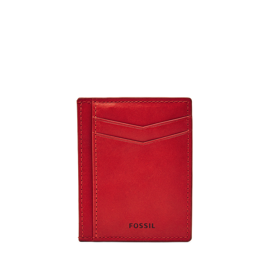 Scarlet Fossil Card Holder