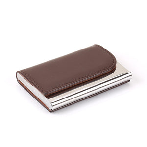Creative Metal and Leather Card Holder