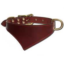 Shark Fin™ Collar, Urban West Coast Style, Burgundy with Brass