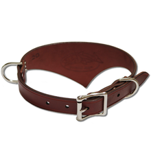 Shark Fin™ Collar, Trail West Coast Style, Burgundy with Nickel