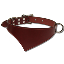 Shark Fin™  Collar, Urban West Coast Style, Burgundy with Nickel
