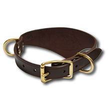 Shark Fin™ Collar, Urban West Coast Style, Espresso with Brass