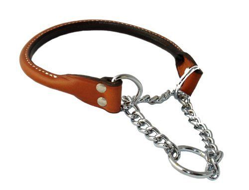 Martingale Rolled Leather Collar Tan