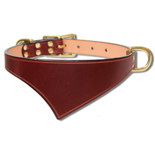 Shark Fin™ Collar, Trail West Coast Style, Burgundy with Brass