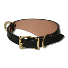 Shark Fin™ Collar, Trail West Coast Style, Black with Brass Hardware