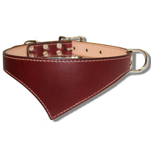 Shark Fin™ Collar, Trail Classic Style, Burgundy with Nickel