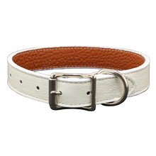 White Tuscany Leather Collar