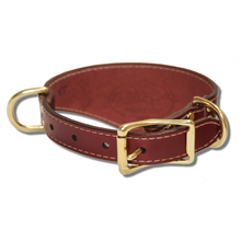 Shark Fin™ Collar, Urban Classic Style, Burgundy with Brass