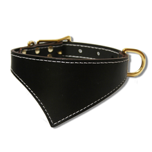 Shark Fin™ Collar, Urban Classic Style, Black with Brass Hardware