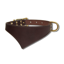 Shark Fin™ Collar, Urban Classic Style, Espresso with Brass Hardware