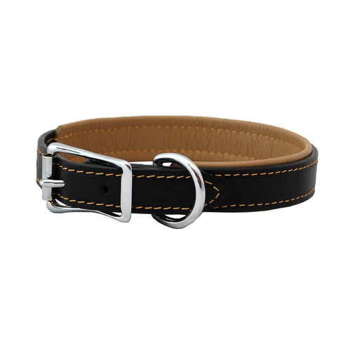 Handmade High quality leather collar with soft leather padding