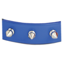 Spiked Leather Collar Royal Blue