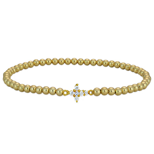 Brianna Cross Bead Bracelet