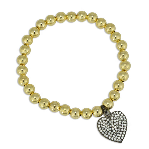 heart, heart Bracelet, Gold Filled, Gold Filled Bracelet, gold filled beads, love bracelet