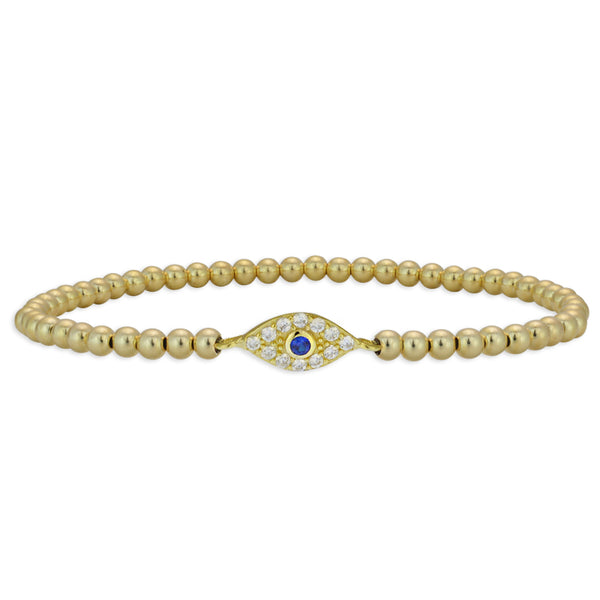 evil eye, evil eye Bracelet, Gold Filled, Gold Filled Bracelet, gold filled beads, good luck bracelet, protection bracelet