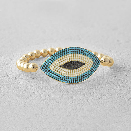 Emery Evil Eye Bead Bracelet