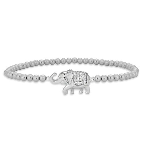 Elephant, Elephant Bracelet, Gold Filled, Gold Filled Bracelet, Sterling Silver Bracelet, CZ Pendant, gold filled beads, nature bracelet, animal bracelet