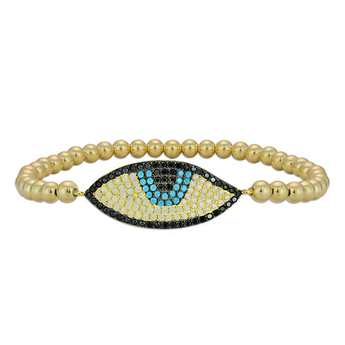evil eye, evil eye Bracelet, Gold Filled, Gold Filled Bracelet, gold filled beads, good luck charm, protection bracelet
