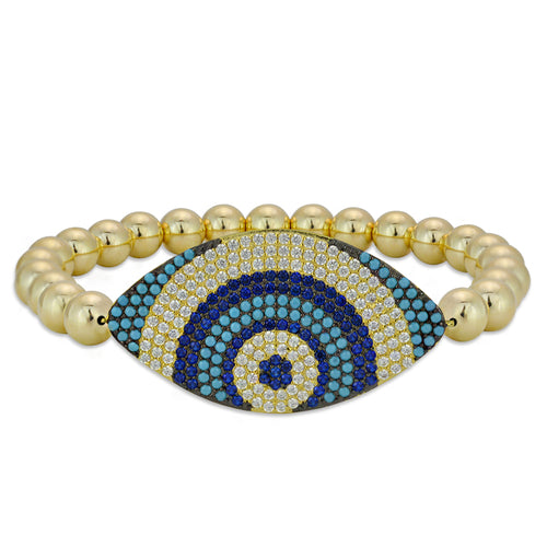 evil eye, evil eye bracelet, gold filled, gold filled beads, gold filled bracelet, protection bracelet, good luck bracelet, cubic zirconia bracelet, turquoise bracelet