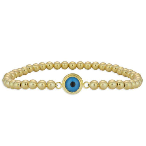 Evil Eye Beaded Bracelet Turkish Eye Good Luck Eye Sterling Silver Gold Filled