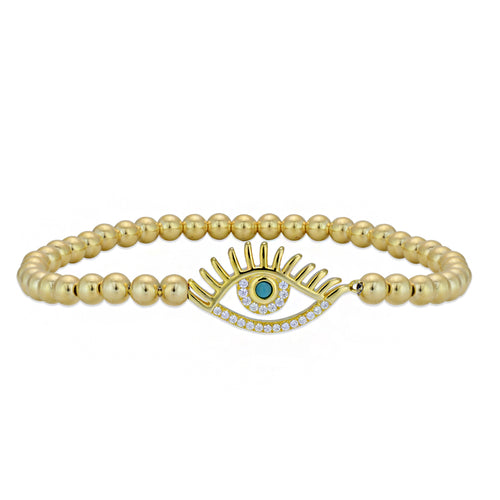 evil eye, evil eye Bracelet, Gold Filled, Gold Filled Bracelet, gold filled beads, good luck charm, turquoise