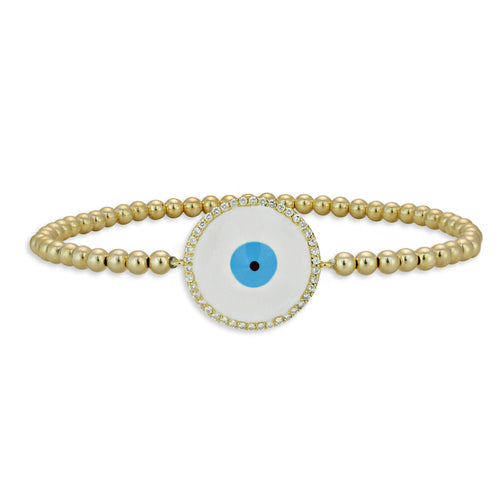 evil eye, evil eye Bracelet, Gold Filled, Gold Filled Bracelet, gold filled beads, good luck bracelet, protection bracelet, enamel bracelet