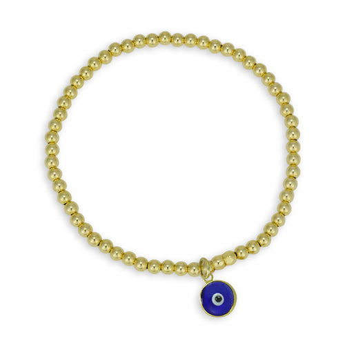 Delaney Evil Eye Bead Bracelet
