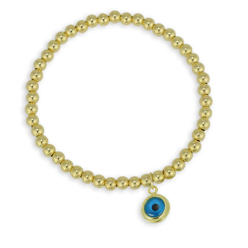 evil eye, evil eye Bracelet, Gold Filled, Gold Filled Bracelet, protection bracelet, gold filled beads, good luck charm