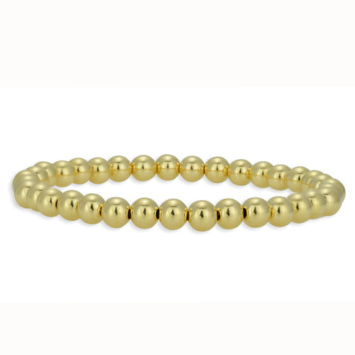 Layering Gold Filled Stretch Bracelet gold filled beads