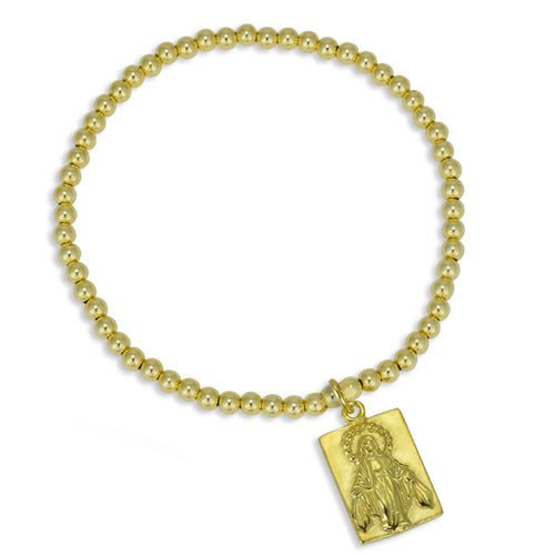 Maria Virgin Mary pendant Bead Bracelet