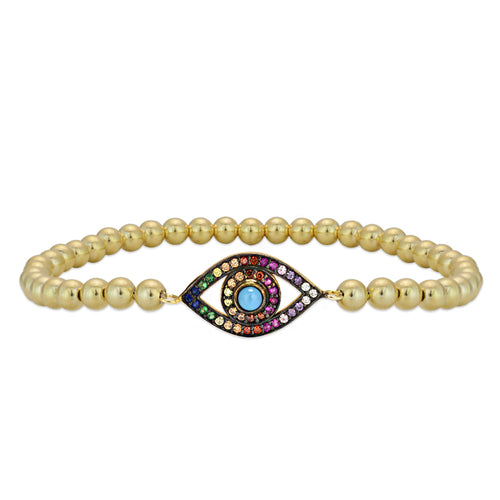 evil eye, evil eye bracelet, gold filled, gold filled beads, gold filled bracelet, protection bracelet, good luck bracelet