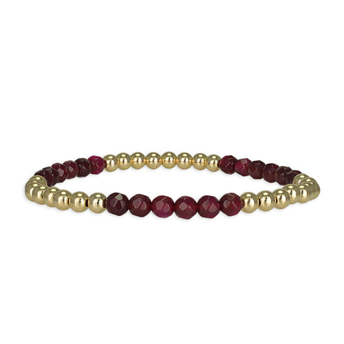 Brooke Semi Precious Sections Bracelet